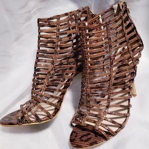 Boutique 9 leather peep toe heels